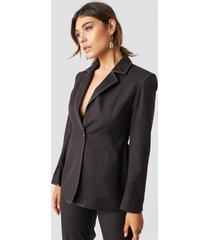 milena karl x na-kd one button blazer - brown