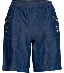 sc-akila chambrey shorts flowy shorts/casual shorts blå soyaconcept
