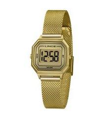 relógio digital lince feminino - sdph128l dourado