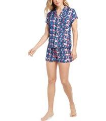 tommy hilfiger women's logo shorts pajama set