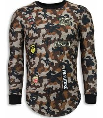 sweater justing 23th us army camouflage shirt - long fit sweater -