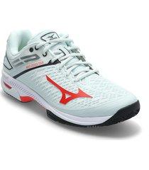 wave exceed tour4 cc shoes sport shoes racketsports shoes blå mizuno