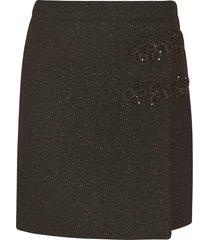 moschino plain knit short toggle skirt