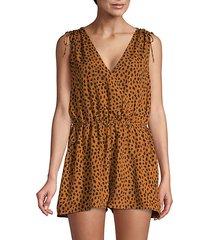 keona cheetah print romper