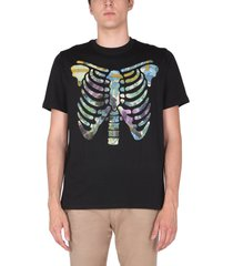 ps by paul smith floral ribs t-shirt