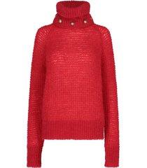 balmain buttoned collar sweater