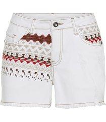 shorts ricamati (bianco) - bodyflirt