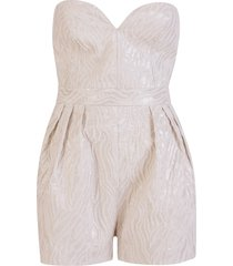 rotate by birger christensen rotate strapless jacquard-woven playsuit