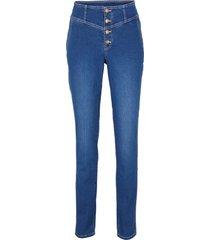 jeans elasticizzati morbidi a vita alta skinny (blu) - john baner jeanswear