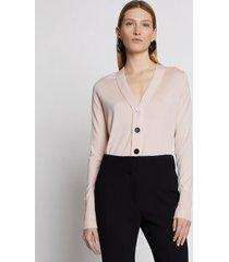 proenza schouler silk cashmere cardigan blush/pink l