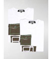 black comme des garçons graphic print cotton t-shirt