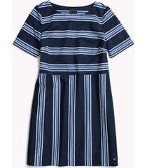 tommy hilfiger women's adaptive stripe shea dress medieval blue/multi - 4