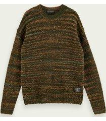 scotch & soda veelkleurige bouclé trui van een wolmix