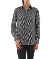 calvin klein k20k200840 prt geometric shirt women black white