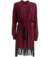 dress with fringes