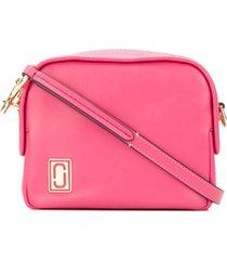 marc jacobs bolsa transversal mini 'squeeze' de couro - rosa