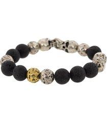 lava and skull bead bracelet