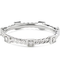 'cable collectibles' diamond 18k white gold ring