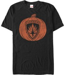 marvel men's guardians of the galaxy shield pumpkin short sleeve t-shirt