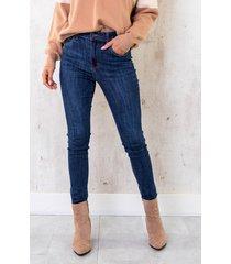 high waist skinny jeans washed dark blue