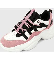 tenis lifestyle blanco-rosa-negro everlast letir-d2