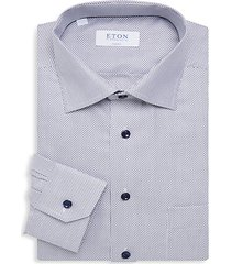 classic-fit textured dress shirt