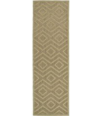 "kaleen a breath of fresh air fsr01-105 khaki 2'6"" x 7'10"" runner rug"