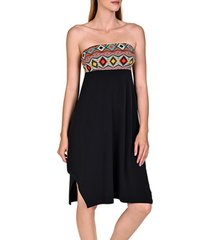 korte jurk lisca zomerse strapless jurk haïti zwart