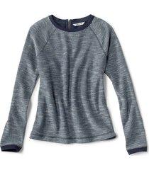 crewneck multi terry sweatshirt