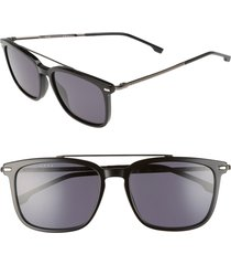 boss 55mm polarized sunglasses in black at nordstrom