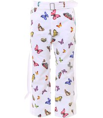 palm angels butterfly buckle pants