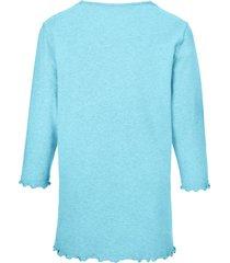 pyjama van 100% katoen met 3/4-mouwen van peter hahn turquoise