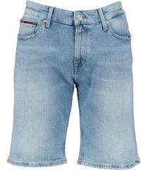 tommy jeans short - slim fit - lichtblauw