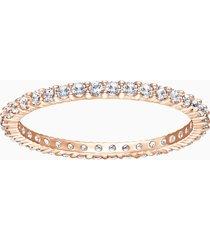 anello vittore, bianco, placcato oro rosa