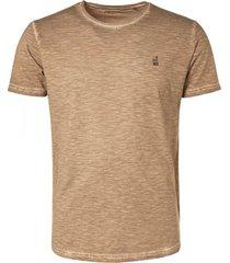 no excess t-shirt crewneck cold dyed slub khaki