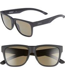 men's smith lowdown 2 55mm chromapop(tm) polarized sunglasses - vintage tortoise/ green