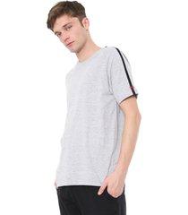 camiseta calvin klein underwear lettering cinza