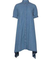 soft indigo dancella jurk knielengte blauw mads nørgaard