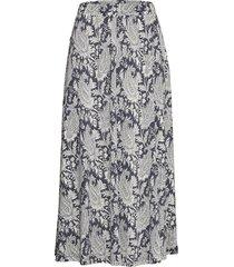 skirt knälång kjol blå ilse jacobsen