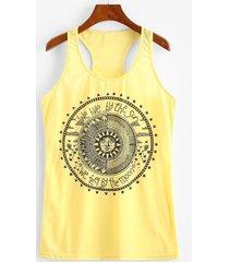 astrology sun graphic racer tank top