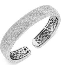 diamond beaded cuff bracelet (1/2 ct. t.w.) in sterling silver