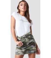 pamela x na-kd camo skirt - green