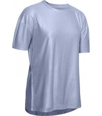 remera plateada under armour unstoppable cire mujer
