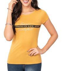 camiseta brid amarillo croydon