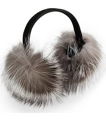 fox fur expandable earmuffs