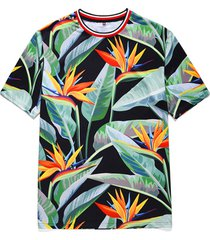 hombres summer topical planta imprimir round cuello camiseta playa holiday t-shirt