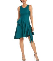 n natori ruffled asymmetrical a-line dress