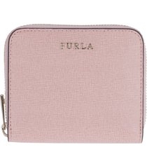 furla babylon small leather zip-around wallet