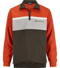sweatshirt men plus terracotta::grijs