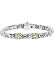 women's lagos signature caviar diamond rope bracelet
